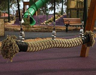 Hendrie Street Reserve Playground Swings Side By Side Rope Swing