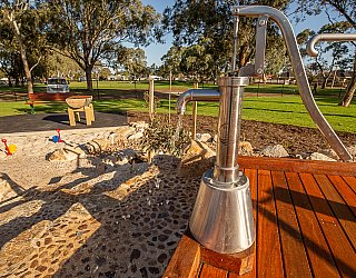 Hendrie Street Reserve Playground Water Pump 2