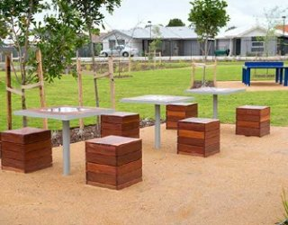 Jervois Street Reserve Chess Ping Pong Tables