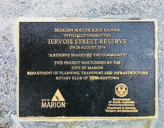 Jervois Street Reserve Plaque City Of Marion Dpti