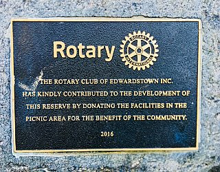 Jervois Street Reserve Plaque Rotary