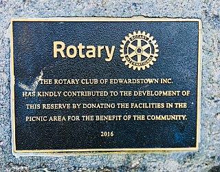 Jervois Street Reserve Plaque Rotary