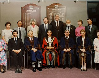 Joan Herraman Marie Gregan Graham Watts Council Photo C1990