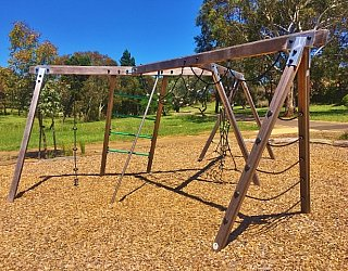 Linear Park Reserve Playspace Climbing Frame