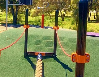 Linear Park Reserve Playspace Rope Crossing