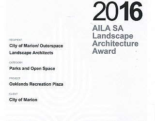 Oaklands Reserve | Oaklands Recreation Plaza | 2016 AILA Award | Parks And Open Space