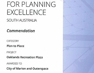 Oaklands Reserve | Oaklands Recreation Plaza | 2016 PLA Award | Plan To Place