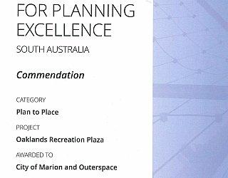 Oaklands Reserve | Oaklands Recreation Plaza | 2016 PLA Award | Plan To Place