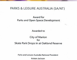 Oaklands Reserve | Oaklands Recreation Plaza | 2016 PLA Award