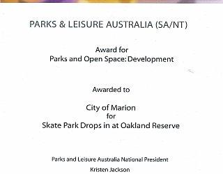 Oaklands Reserve | Oaklands Recreation Plaza | 2016 PLA Award