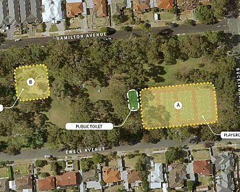 Hamilton Park Reserve Playground Location Options October 2018 16X9