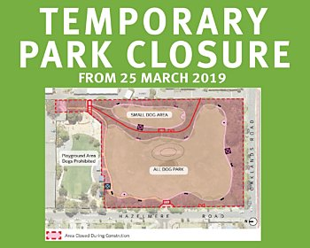 Hazelmere Road Reserve Dog Park Upgrade Notice Of Works 20190325 8X10