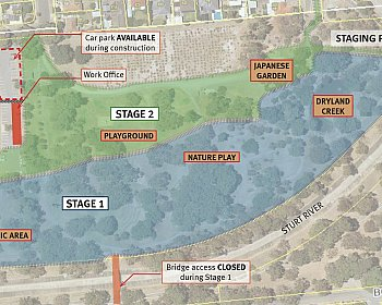 Oaklands Reserve | Oaklands Estate Reserve | Notice Of Works | Staging Plan | October 2018