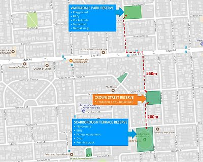Crown Street Reserve Location Map
