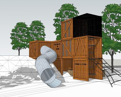 Hendrie Street Reserve Inclusive Playspace Fruit Crate House