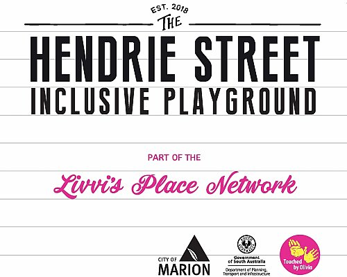 Hendrie Street Reserve Inclusive Playground Entry Sign 3