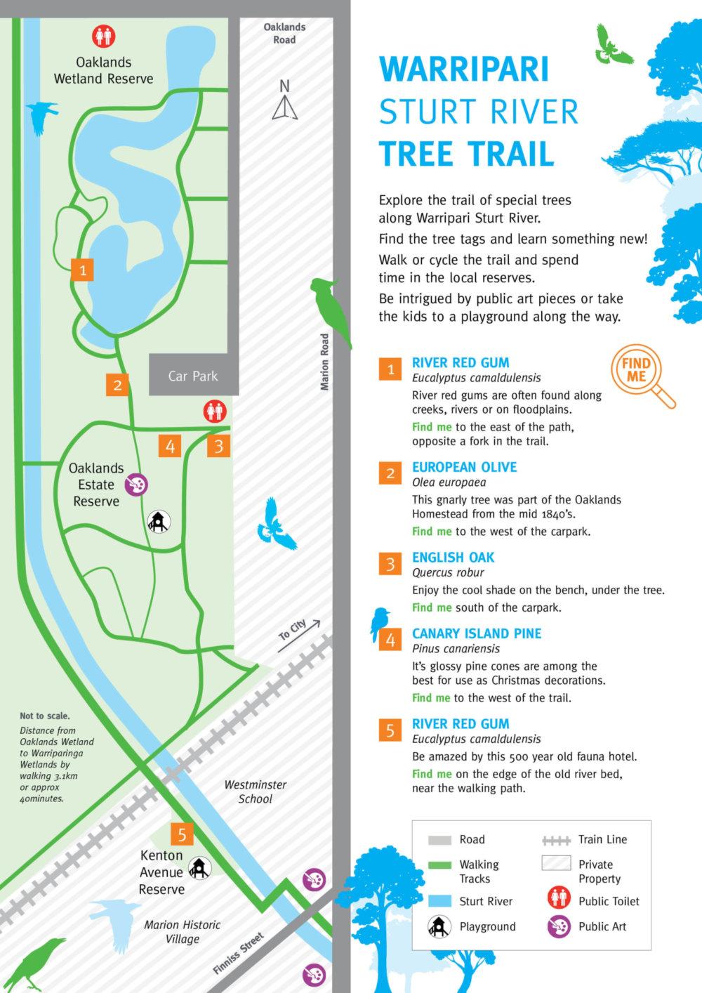 Warripari Sturt River Tree Trail Map 1
