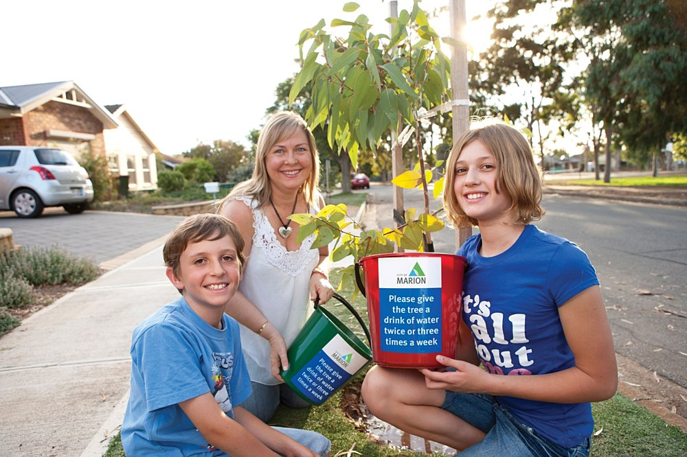 Adopt A Tree Family Watering Tree Image
