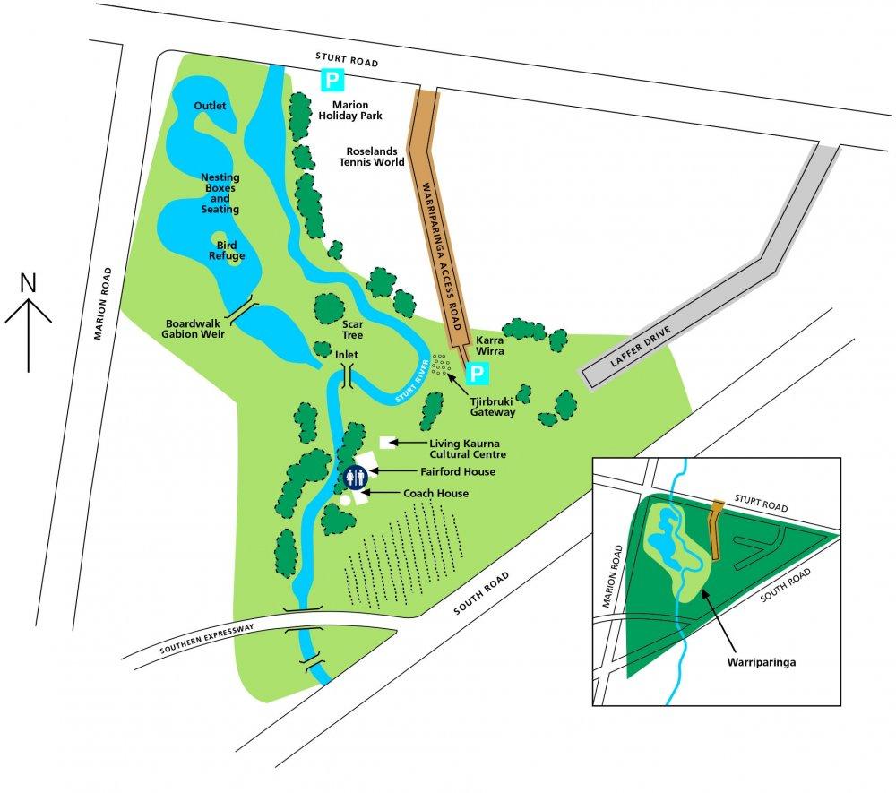 Warriparinga Map