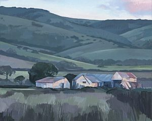 Lesley redgate Twilight on Justs Barn