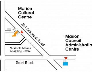 Marion Cultural Centre location map