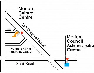 Marion Cultural Centre location map