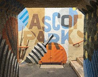 Ascot Park Train Station Mural