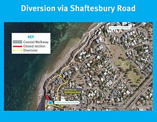 Coastal Walkway Diversion Signs 1 The Holdfast Link