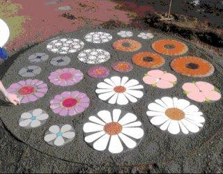 Jervois Street Reserve Flower Pavers