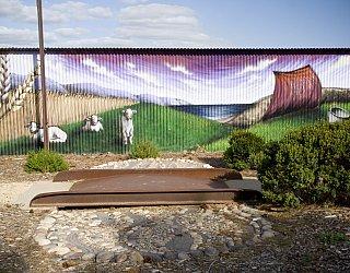 Perry Barr Farm Sheep Mural