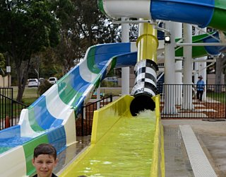 Waterslide With Kids
