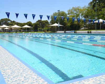 Main Pool Water Lanes
