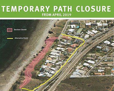 Temporary Path Closure Sign