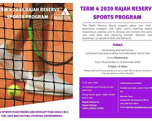 CD Term 4 Rajah Sports Flyer 2020