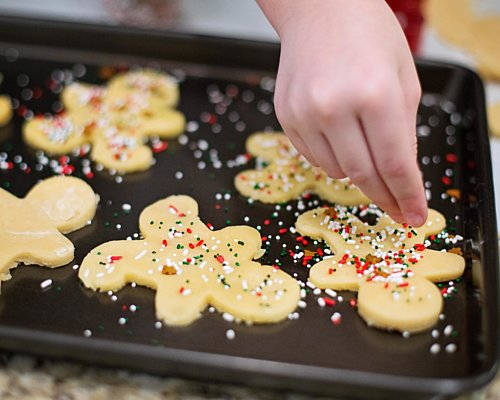 Christmas decorate cookies kids