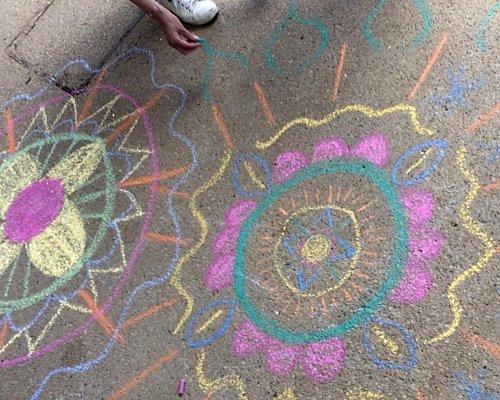 Mandalas chalk