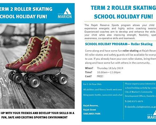 Rajah Reserve Term 2 School Holiday Program Roller Skating
