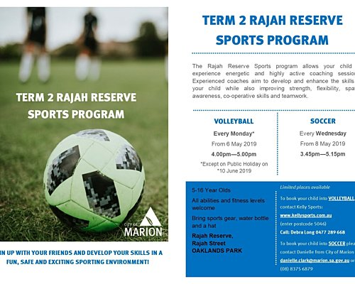 Term 2 Rajah Sports Flyer