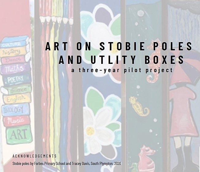 Stobie poles and utility boxes